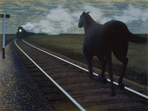 Alex Colville,  Horse and Train,