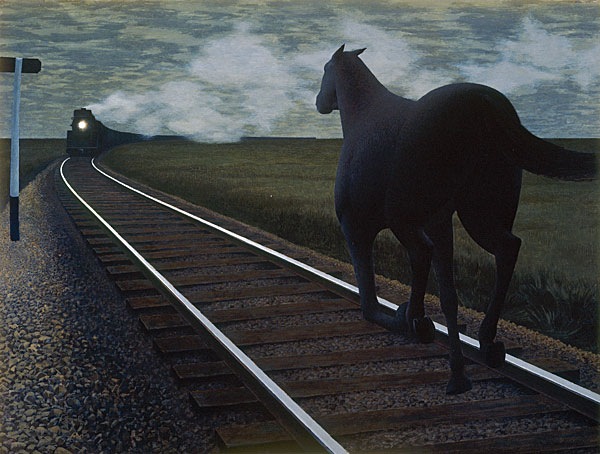 Alex Colville, 1954 Horse and Train