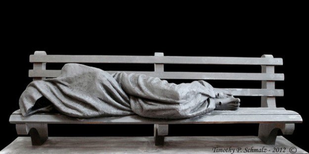Homeless Jesus by Timothy Schmallz